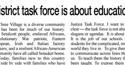 Letter to the Editor about District Anti-Racism and Social Justice Task Force